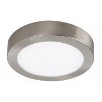Aplica LED rotunda nichel satin 12W, D:17cm, 4000K, 800lm, LOIS 2659