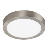 Plafoniera LED rotunda nichel satin 18W, D:23cm, 1400lm, 4000K, LOIS 2660