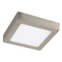 Aplica LED patrata nichel satin 12W, 17x17cm, 4000K, 800lm, LOIS 2667
