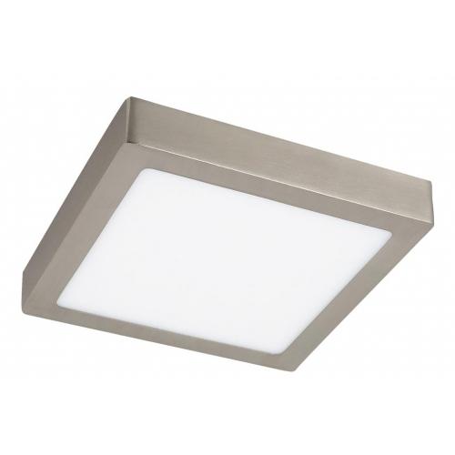 Plafoniera LED patrata nichel satin 18W, 23x23cm, 1400lm, 4000K, LOIS 2668