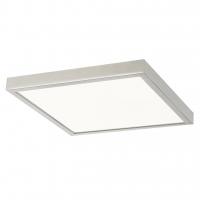 Plafoniera LED patrata nichel 36W, 40x40cm, 2500lm, 4000K, LOIS 2670