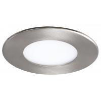 Spot LED incastrabil rotund nichel 3W, D:8.5cm, 4000K, 170lm, LOIS 5572