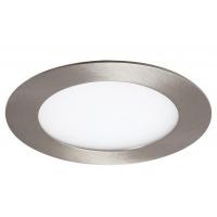 Spot LED incastrabil rotund nichel 6W, D:12cm, 350lm, 4000K, LOIS 5573