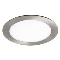 Spot LED incastrabil rotund nichel 12W, D:17cm, 800lm, 4000K, LOIS 5574