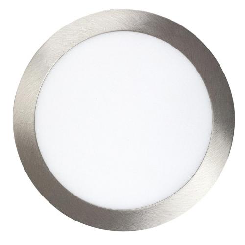 Spot LED incastrabil rotund nichel 18W, D:23cm, 1400lm, 4000K, LOIS 5575