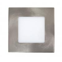Spot LED incastrabil patrat nichel satin 3W, 9x9cm, 4000K, 170lm, LOIS 5576