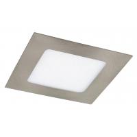 Spot LED incastrabil patrat nichel satin 6W, 12x12cm, 350lm, 4000K, LOIS 5581