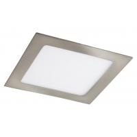 Spot LED incastrabil patrat nichel satin 12W, 17x17cm, 800lm, 4000K, LOIS 5582