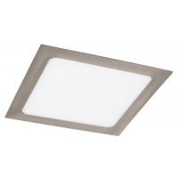 Spot LED incastrabil patrat nichel satin 18W, 22x22cm, 1400lm, 4000K, LOIS 5583