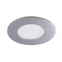 Spot LED baie IP44 incastrabil rotund crom 3W, D:8.5cm, 3000K, 170lm, LOIS 5588