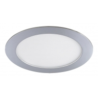 Spot LED baie IP44 incastrabil rotund crom 12W, D:17cm, 800lm, 3000K, LOIS 5589