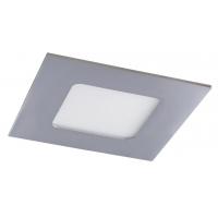 Spot LED baie IP44 incastrabil patrat crom 3W, 9x9cm, 3000K, 170lm, LOIS 5590