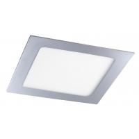 Spot LED baie IP44 incastrabil patrat crom 12W, 17x17cm, 800lm, 3000K, LOIS 5591