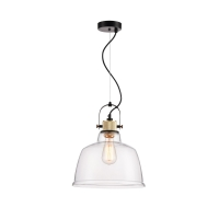 Pendul superb Loft Maytoni Irving, transparent, E27 40W, H:45-150cm