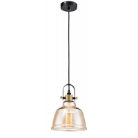 Pendul simplu Loft Maytoni Irving, ambra, E27 40W, H:35-150cm