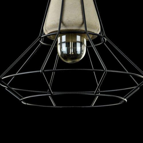 Pendul spider Loft Maytoni Gosford, gri, E27 40W, H:32-222cm