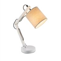 Lampa de birou lemn Mattis 21511, textil bej