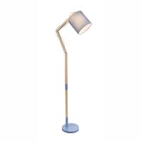 Lampadar lemn living Mattis 21514S, textil albastru
