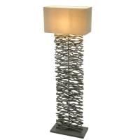 Lampadar living lemn gri Jamie 21648S, dreptunghiular