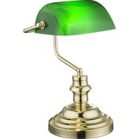 Lampa birou retro Antique 2491K, alama, verde acrilic, 1xE27