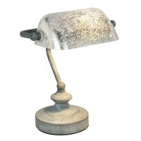 Veioza retro artistica Antique 24917G, gri antic, argintiu acrilic, 1xE14 25W