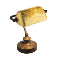 Veioza vintage artistica Antique 24917R, ruginie, auriu acrilic, 1xE14 25W