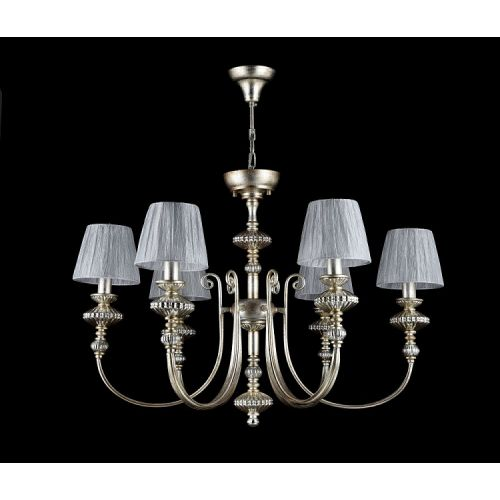 Lustra dormitor clasica Maytoni Serena Antique, aurie, 6xE14 40W, H:67-97cm