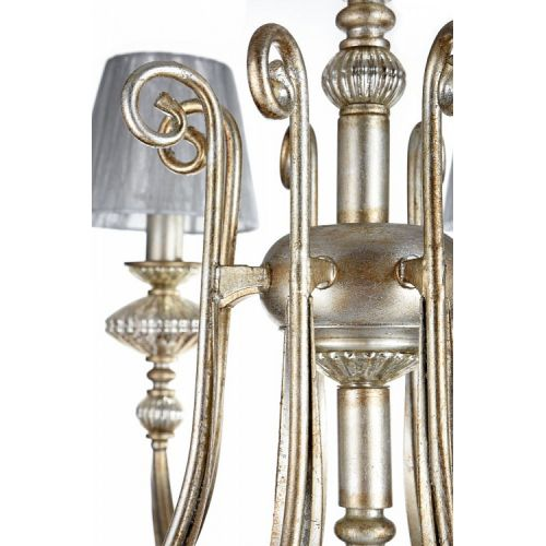 Lustra living clasica Maytoni Serena Antique, aurie, 8xE14 40W, H:71-101cm