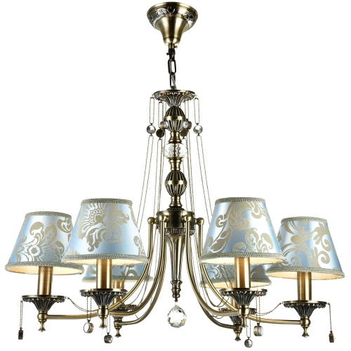 Lustra clasica Maytoni Vals, bronz, 6xE14 40W, H:64-104cm