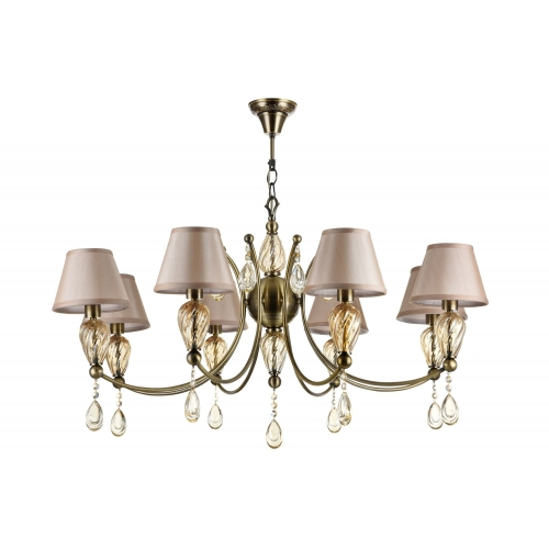 Lustra sufragerie clasica Maytoni Murano, bronz, 8xE14 40W