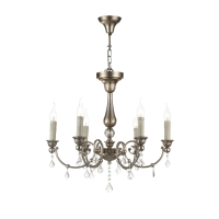 Lustra bucatarie clasica Maytoni Francis, aurie, 6xE14 60W, H:61-156cm