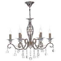 Lustra sufragerie clasica Maytoni Grace, bronz, 6xE14 60W, H:61-116cm