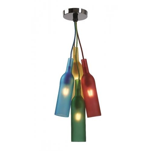 Lustra Roilux Alella/4L, E27, 4x40W, multicolora
