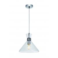 Pendul Roilux Olbia 1L, E14, 1x40W, Cristal Transparent, D:22cm