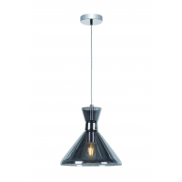 Pendul Roilux Olbia 1L, E14, 1x40W, Cristal Fumuriu, D:22cm