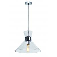 Pendul Roilux Parma 1L, E27, 1x60W, Cristal Transparent, D:33.5cm