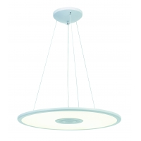 Lustra LED Roilux Rodez, 1x36W+3W, Alba cu difuzor incorporat via Bluetooth