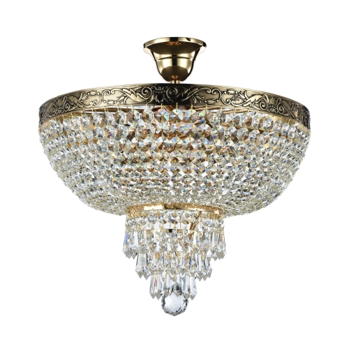 Lustra dormitor cristal Maytoni Palace, aurie, 5xE27 60W