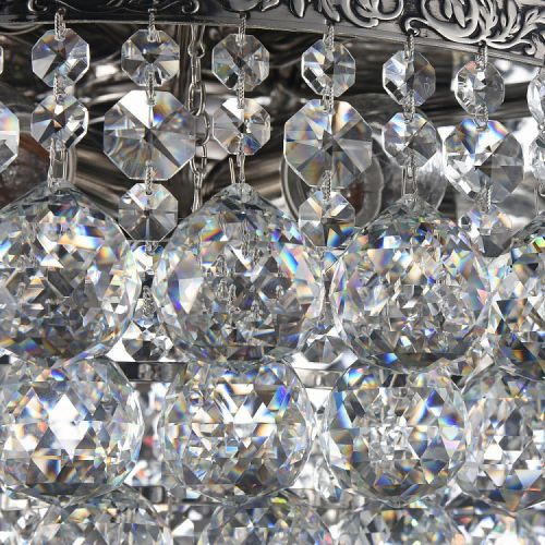 Lustra dormitor cristal Maytoni Gala, nichel mat, 4xE27 60W