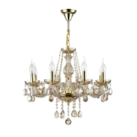 Lustra sufragerie clasica Maytoni Brandy, aurie, 8xE14 60W, H:58-84cm