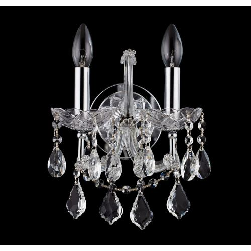 Aplica cristal Maytoni Inverno, argintie, 2xE14 40W