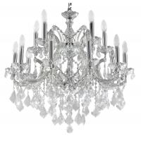 Candelabru cristal Maytoni Inverno, argintiu, 16xE14 40W, H:76-110cm