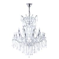 Candelabru living cristal Maytoni Inverno, argintiu, 25xE14 40W, H:137-172cm
