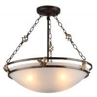 Lustra clasica Maytoni Combinare, bronz, 4xE27 60W, H:35-51cm