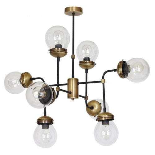 Lustra living retro Bravo KL6603, bronz, 8 x 60W E27, H 75 cm