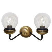 Aplica perete retro Bravo KL6602, bronz, 2 x 60W E27, L 36 cm