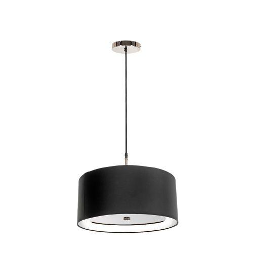 Lustra living Elstead Sienna, nichel-negru, D:46cm, E27, 3x60W