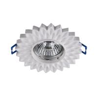 Spot vopsibil downlight Maytoni Gyps Classic DL282-1-01-W, alb, MR16 GU10 35W, floare de lotus