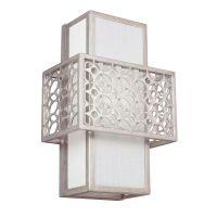 Aplica perete dormitor Feiss Kenney, E27, 1x60W, argintiu