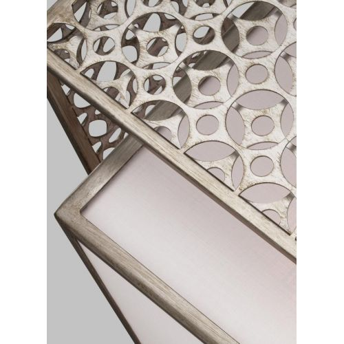 Lustra living Feiss Kenney, E27, 3x60W, argintiu